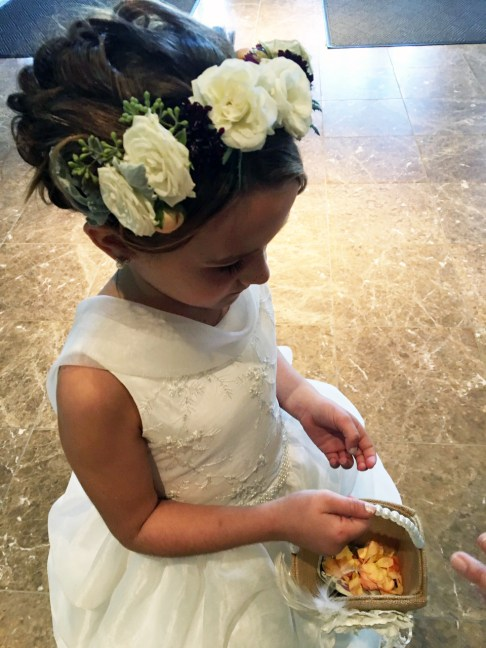 Flower girl and flower crown