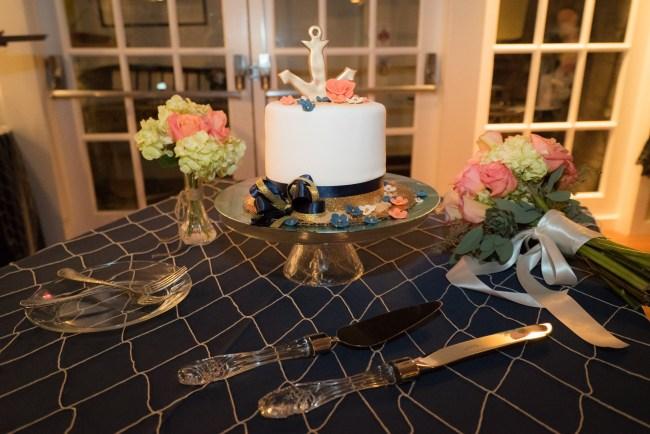 wedding cake rustic nautical by Sweet Memories Cake Shoppe