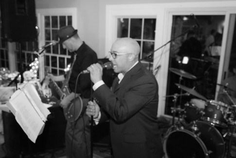 Wedding reception at the Shelter Harbor Marina with the band Hyperactive playing