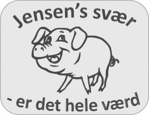 jensen-hilsen med glad gris