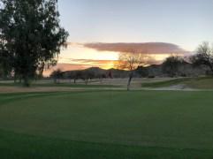 6th greenside with beautiful sunrise.