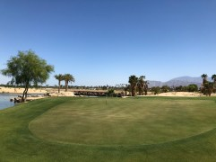 Closer view of 11th green.