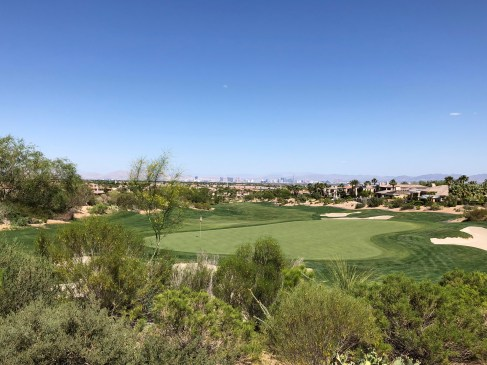 Behind 5th green, overlooking the city in the distance.