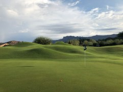 Side view of 2nd green to show some of the mounding.
