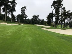 """17th approach. """"Mike Davis"""" bunker is the first one on the right."""