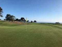 Side view of 10th green.