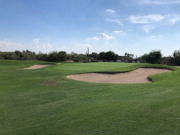 Side view of 9th green.