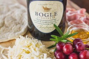 Bogle wine bottle with cheese and grapes
