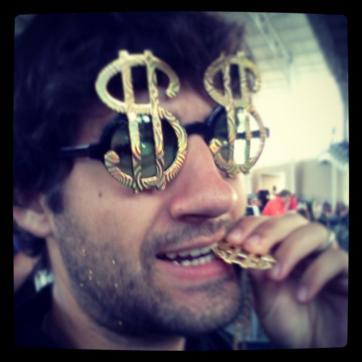 Sunday: Ke$ha at CMAC. Gold glitter in my beard. Come at me.