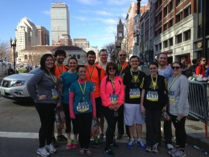 Much of our 2FNs family after finishing the 2013 B.A.A. 5K.