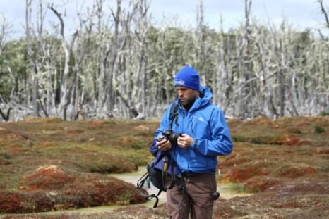On fieldwork in Chilean Tierra del Fuego.