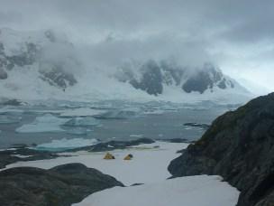 Spectacular location for moss coring – Green Island, Antarctic Peninsula.