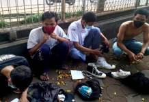 Belasan pelajar dari berbagai sekolah SMK Kota dan Kabupaten Bogor diamankan Satuan Tugas