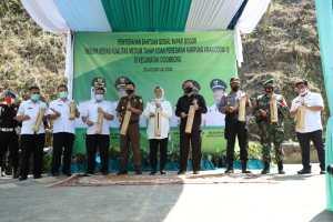 Bupati Bogor Resmikan Kampung Aman Covid-19 dan Berikan Bantuan Sosial di Wilayah Kecamatan Cigombong