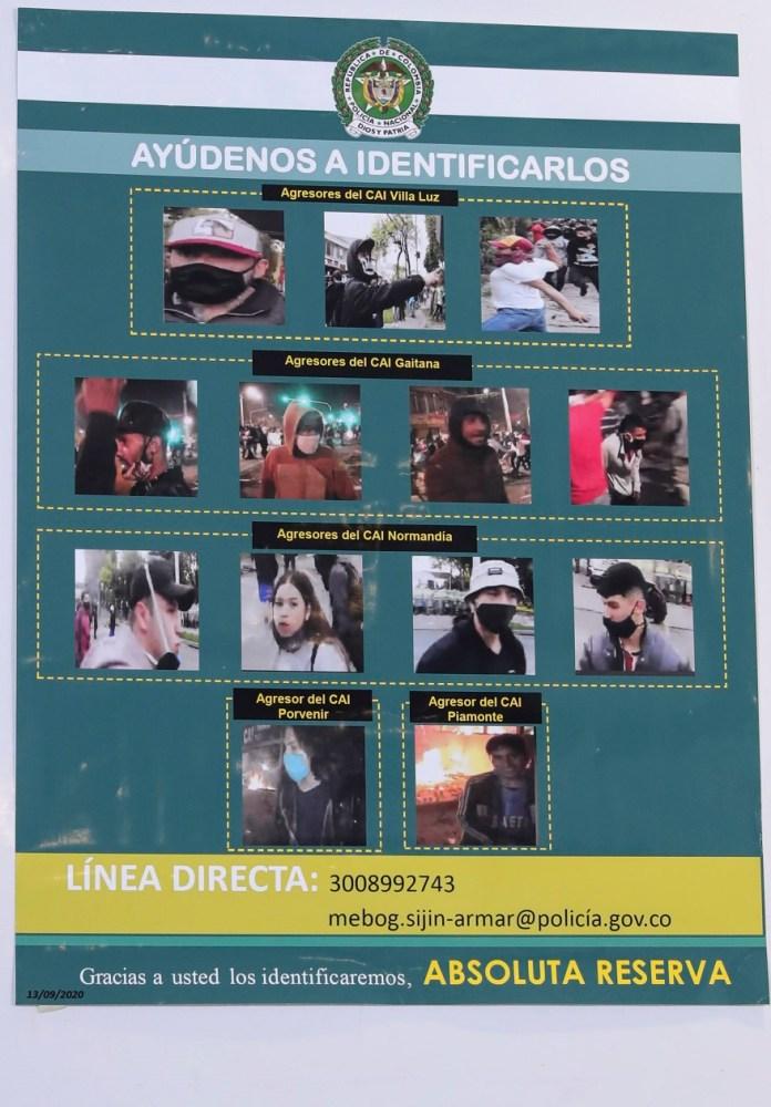 Recompensa por presuntos responsables de vandalismo - Foto: Comunicaciones Alcaldía Bogotá