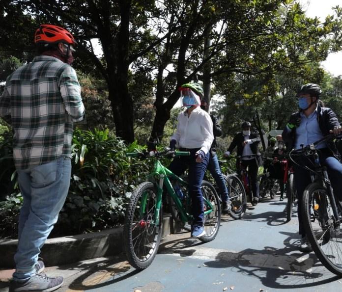 Verificación infraestructura para ciclistas en el norte - Foto: Comunicaciones Alcaldía Bogotá