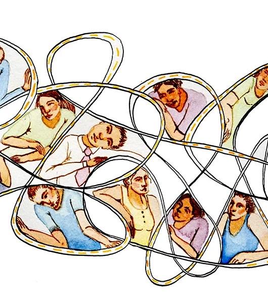 Ilustración de cuento del trancón