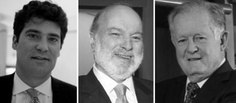 Los tres hombres más ricos de Colombia: Alejandro Santodomingo, Carlos Julio Ardila y Luis Carlos Sarmiento Angulo.