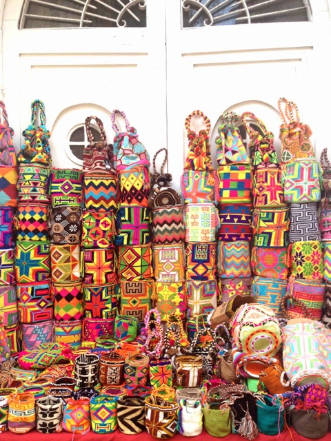 wayuu bag in ciudad amurallada cartagena colombia