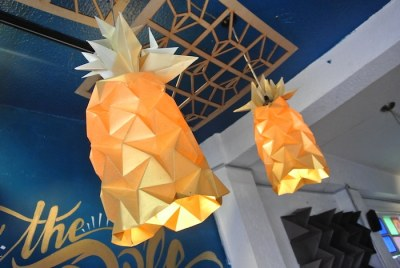 Pineapple Origami Lamps
