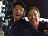 Actor Holt Boggs and Me, clowning around