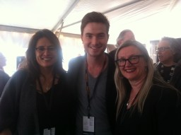 Producer Christine Walker, star Matt Kane, and director Shelli Ainsworth at the reception