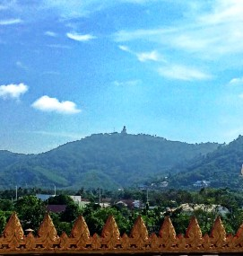view of the Big Buddha from Wat Chalong