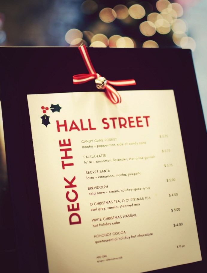 deck the hall street seasonal menu dallas texas