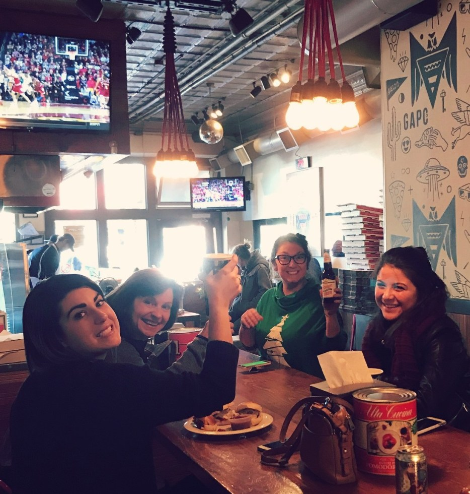 cheers at Greenville Avenue Pizza company
