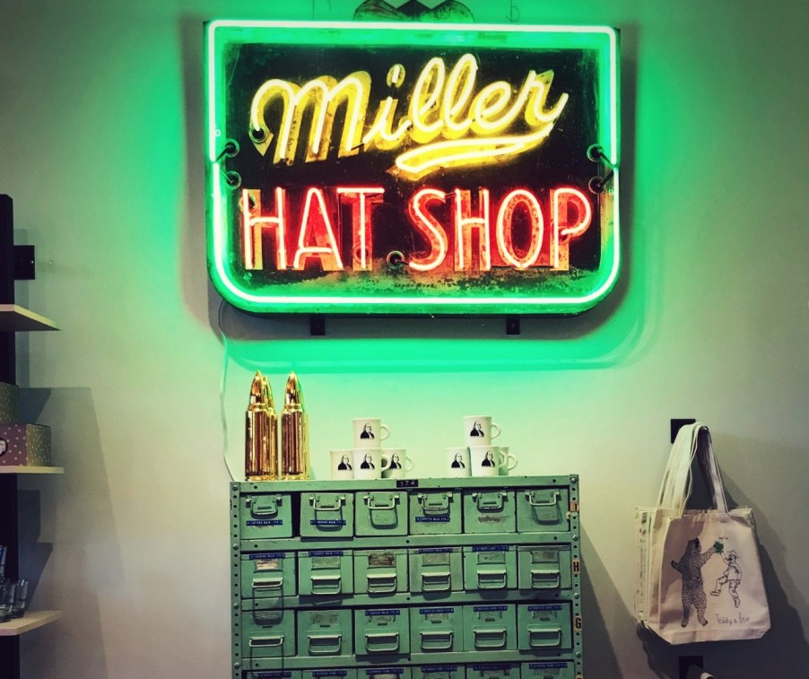 miller hat shop sign at the merchant on greenville avenue