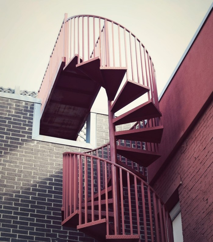 pretty stairs in downtown dallas