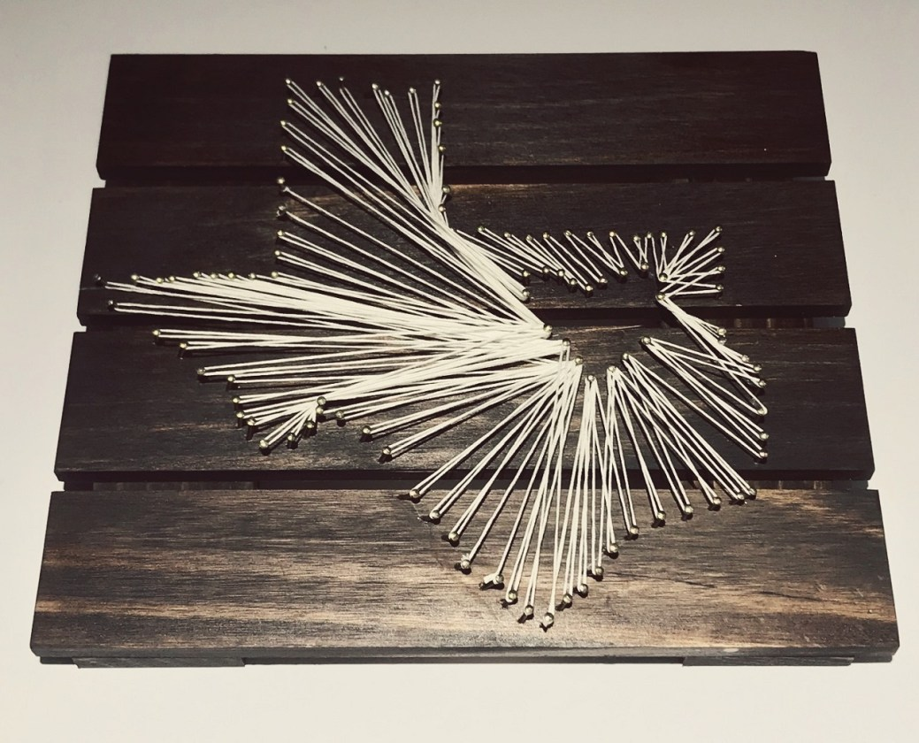 texas DIY string art project