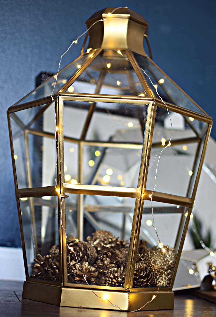 gold bohemian lantern home decor