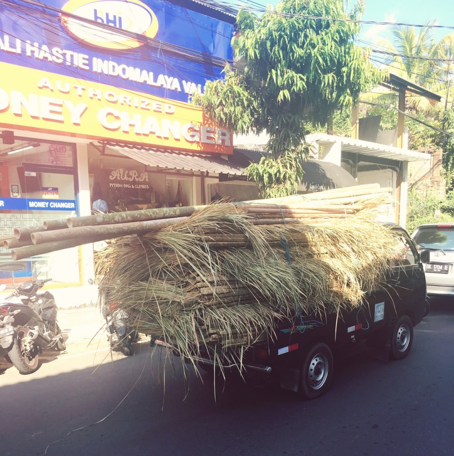 bamboo on a truck ubud bali