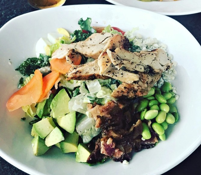 cobb salad at yard house on lincoln avenue in south beach miami