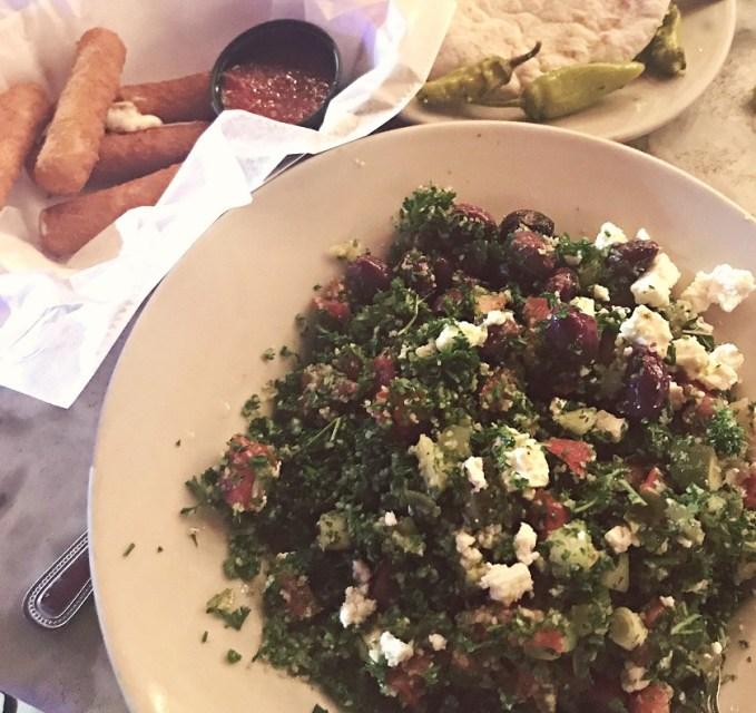 Mediterranean salad dinner at news cafe south beach miami