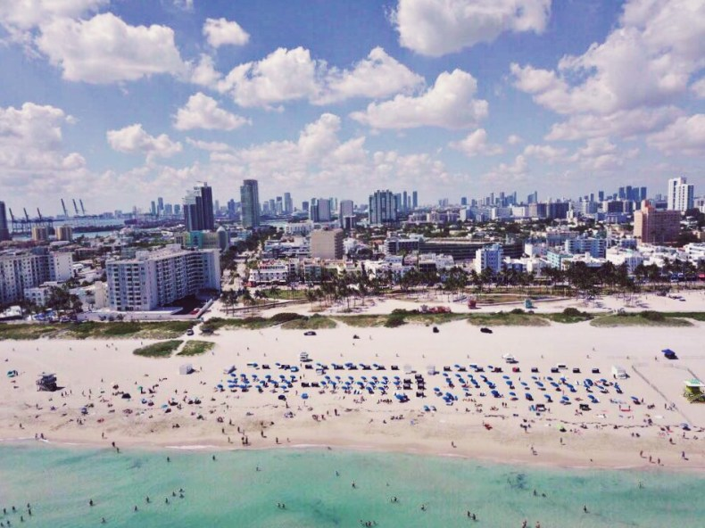 drone photography south beach miami