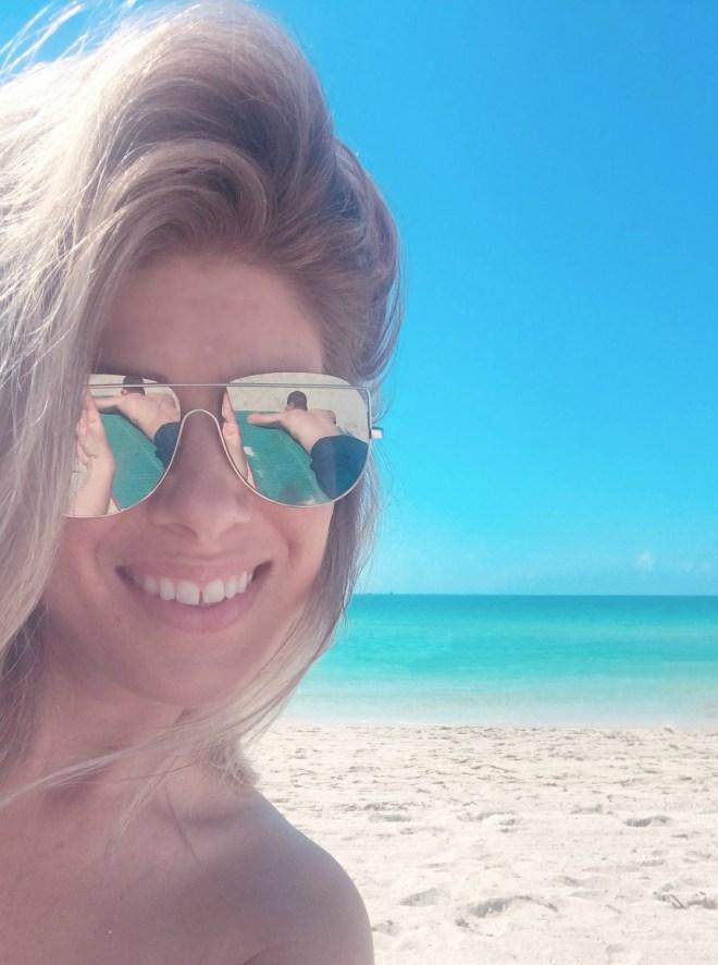 at the beach in south beach miami