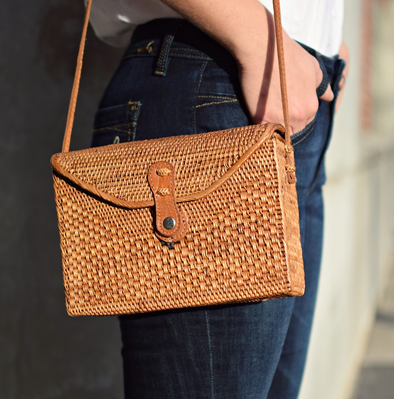 straw purse bag from bali indonesia