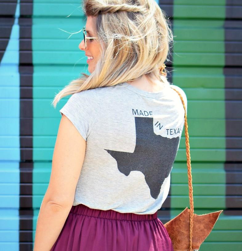 made in texas shirt by deep ellum mural dallas texas