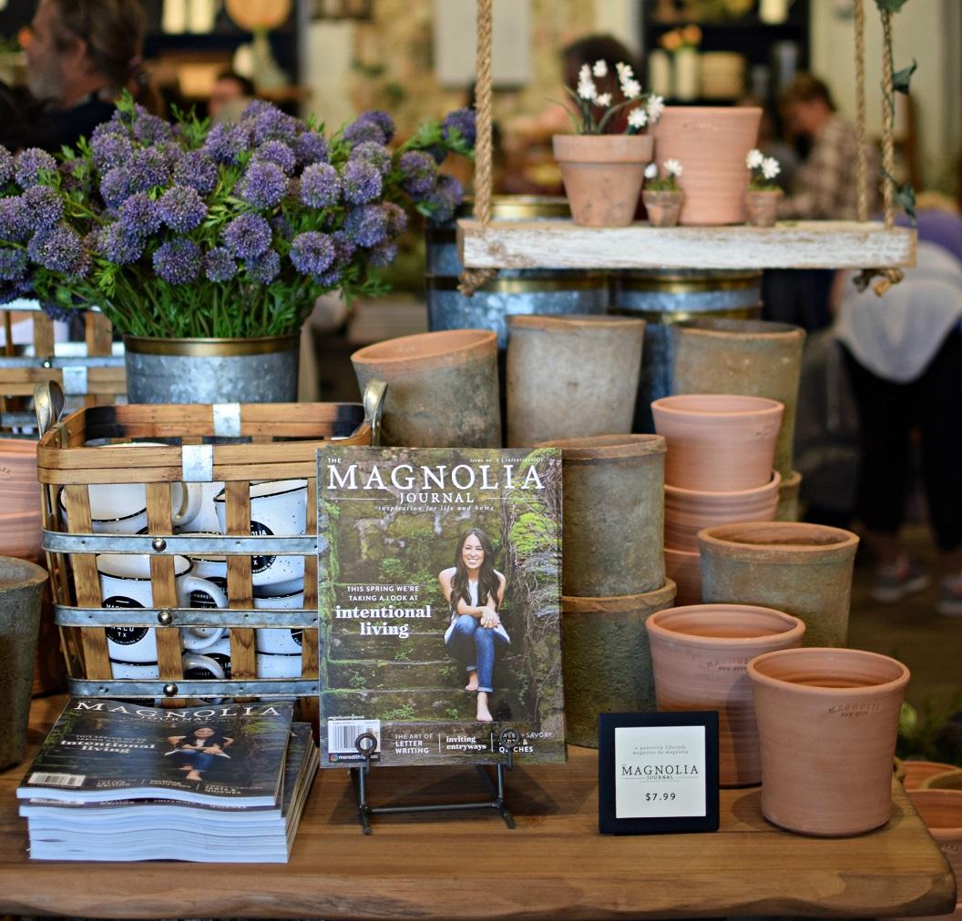 visual display table magnolia silos waco texas