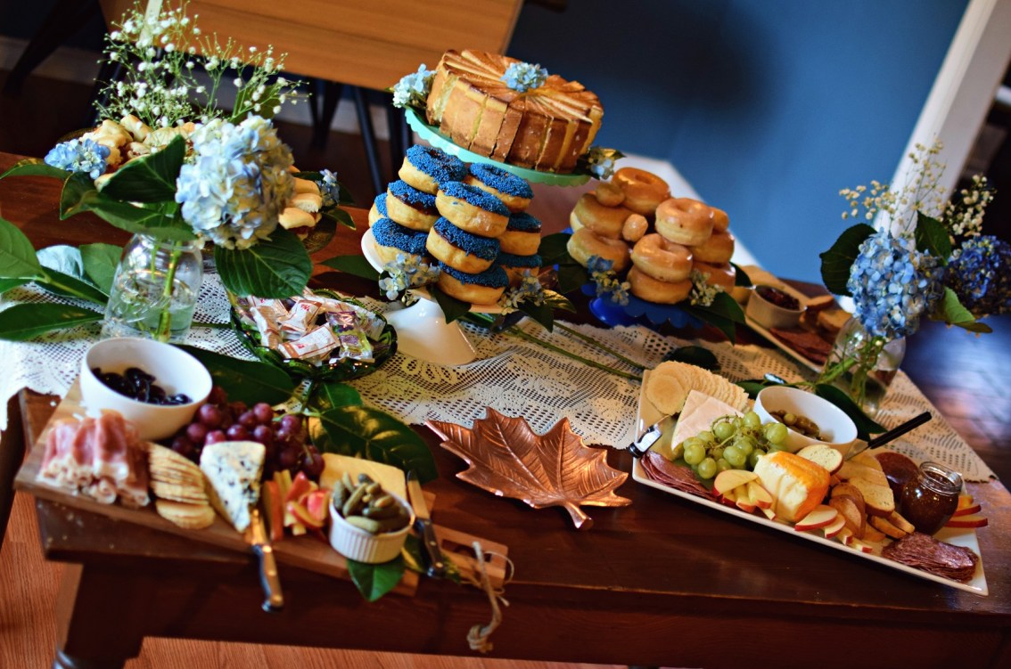 baby shower food buffet table