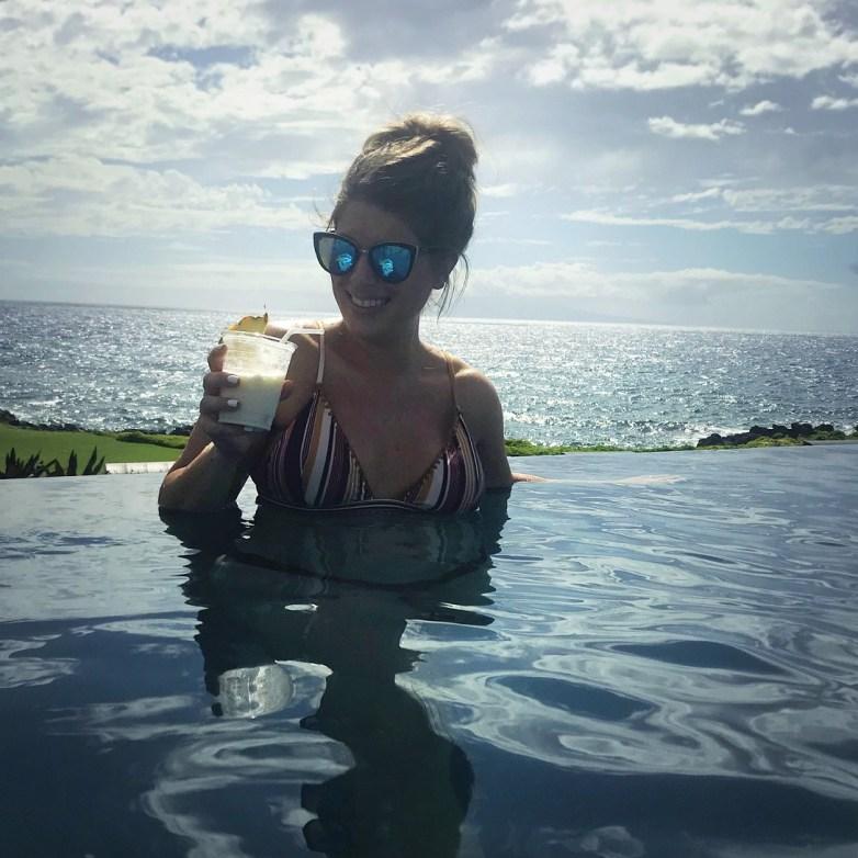 infinity pool at weilea beach resort maui hawaii