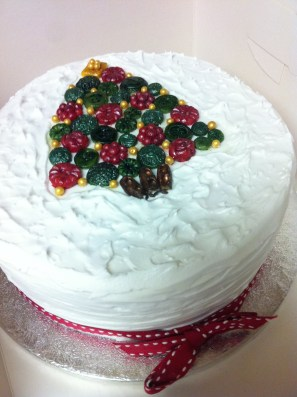Marzipan Button Tree cake