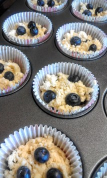 another spoonful with blueberries on top