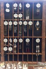 My earring display at Indie Emporium