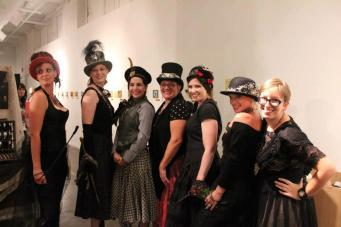 My very firs fashion show! Indie Emporium in Tulsa, OK. Jewelry & accessories by me. Hats by my mom, The Salvage Seamstress. Models: Melissa Antonucci, Caroline Chandler, Holly Embry, my mom, Renee Nordholm, Kathleen Miller, and me!