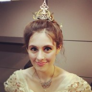 Alicia McSpadden, my model and beautiful steampunk bride for the day, at Marry Me Indie in Tulsa, OK. Tiara is a collaborative creation of mine and my mom's. Necklace is by me.