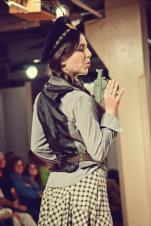 Runway Show at Indie Emporium. Jewelry & accessories by me. Hats by my mom, The Salvage Seamstress. Model: Holly Embry.