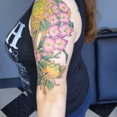 floral half sleeve3